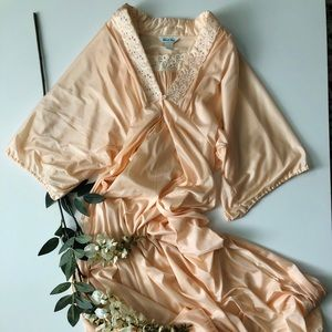 Vintage Peach Sleepwear Set